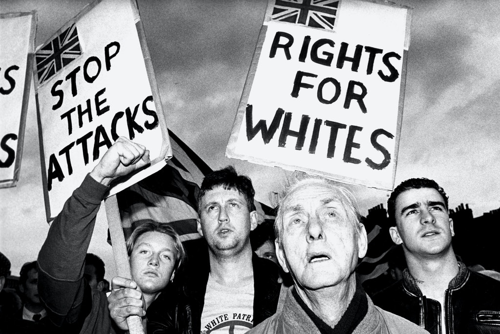 British National Party 'Rights for Whites' demo in East London 1990. (Photo by: PYMCA/UIG via Getty Images)