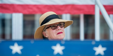 UNITED STATES - MAY 3: Carol Miller, who is running for the Republican nomination in West Virginia's 3rd Congressional District, is seen at a National Day of Prayer event in Point Pleasant , W.Va., on May 3, 2018. (Photo By Tom Williams/CQ Roll Call) (CQ Roll Call via AP Images)