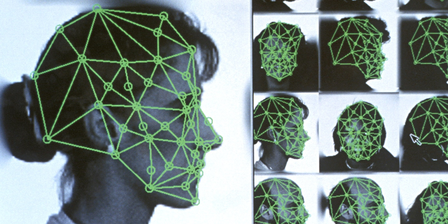 DIGITIZED FACIAL RECOGNITION USING GRID WITH SPECIFIC FEMALE POINTS. (M)