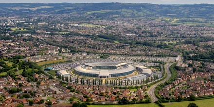 Aerial photograph of the GCHQ, Government Communications Headquarters.