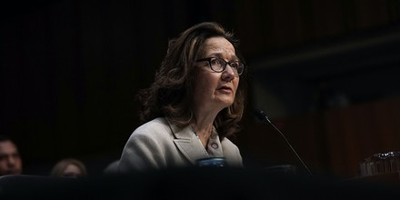 WASHINGTON, DC - MAY 09:  CIA Director nominee Gina Haspel speaks during her confirmation hearing before the Senate (Select) Committee on Intelligence May 9, 2018 in Washington, DC. If confirmed, Haspel will succeed Mike Pompeo to be the next CIA director.  (Photo by Alex Wong/Getty Images)