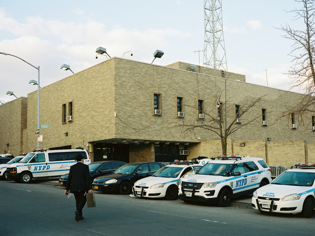 The 71st Precinct, where protestors gathered in the days after the police killed Vassell. Photo by Liam Quigley for The Intercept