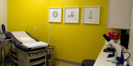 WASHINGTON, DC --  SEPTEMBER 27:  Planned Parenthood opened its new headquarters in Northeast Washington, D.C., on Tuesday, September 27 2016. One of six exam rooms is shown here. (Photo by Nikki Kahn/The Washington Post via Getty Images)