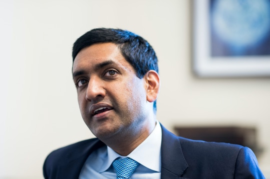 UNITED STATES - JUNE 29: Rep. Ro Khanna, D-Calif., speaks with Roll Call in his office on Thursday, June, 29, 2017. (Photo By Bill Clark/CQ Roll Call) (CQ Roll Call via AP Images)