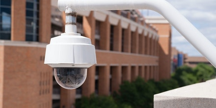 Security officers can keep an eye on things remotely from this camera