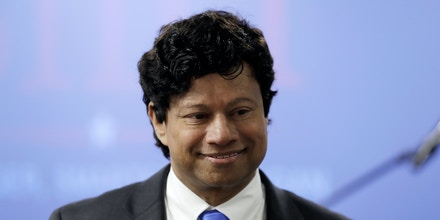 Shri Thanedar announced his candidacy for Michigan governor during a news conference on June 8, 2017, in Detroit.