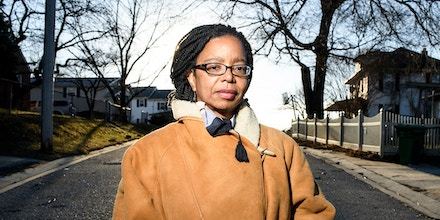 Baltimore, Maryland - February 03, 2018: Maryland State Delegate Robbyn Lewis, canvases her constituents' neighborhoods during the third Baltimore Ceasefire weekend Saturday February 3rd, 2018.CREDIT: Matt Roth