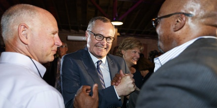 Republican Lt. Gov. Casey Cagle, a candidate for Georgia governor, speaks with supporters during an election-night watch party in Gainesville, Ga., Tuesday, May 22, 2018. (AP Photo/Todd Kirkland)