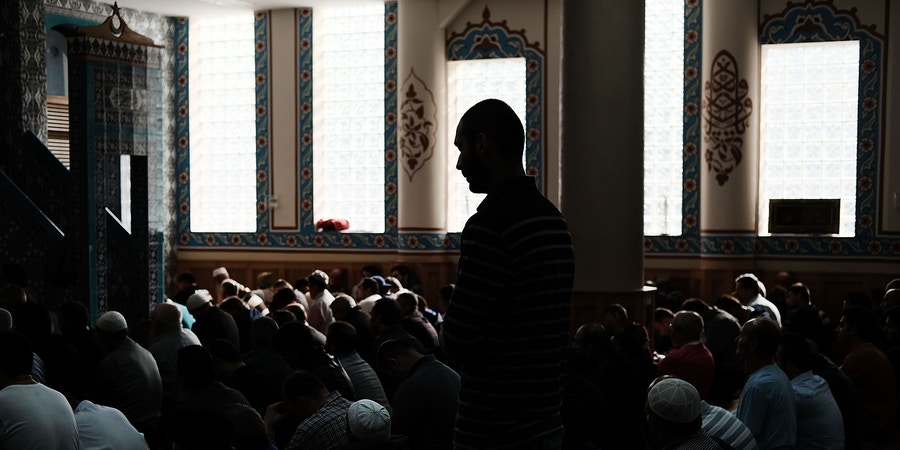 NEW YORK, NY - NOVEMBER 03:  Men pray in the Eyup Cultural Center mosque which has a large number of Uzbek and Turkish worshippers from the Brighton Beach section of Brooklyn on November 3, 2017 in New York City. New York City, and members of the Uzbekistan community, are still coming to terms with last Tuesday's terrorist attack in which eight people were killed and 12 were injured when Sayfullo Saipov intentionally drove a truck onto a bike path in lower Manhattan. The 29-year-old Uzbek national is being held without bail pending his trial.  (Photo by Spencer Platt/Getty Images)