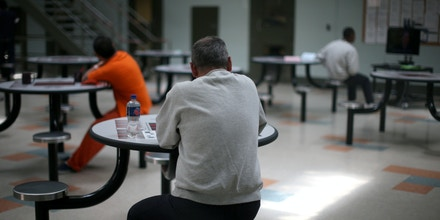 A communal area is seen at the Adelanto immigration detention center, which is run by the Geo Group Inc (GEO.N), in Adelanto, California, U.S., April 13, 2017. REUTERS/Lucy Nicholson SEARCH