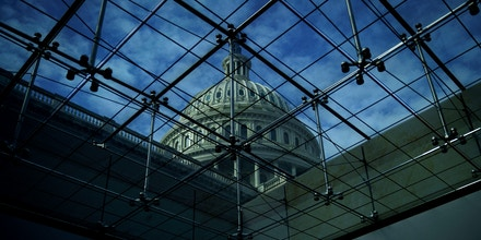 WASHINGTON, DC - JANUARY 21: A view of the U.S. Capitol dome, January 21, 2018 in Washington, DC. Lawmakers are convening for a Sunday session to try to resolve the government shutdown. (Photo by Drew Angerer/Getty Images)