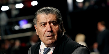 LAS VEGAS, NV - OCTOBER 19:  Businessman Haim Saban arrives before the start of the third U.S. presidential debate at the Thomas & Mack Center on October 19, 2016 in Las Vegas, Nevada. Tonight is the final debate ahead of Election Day on November 8.  (Photo by Drew Angerer/Getty Images)