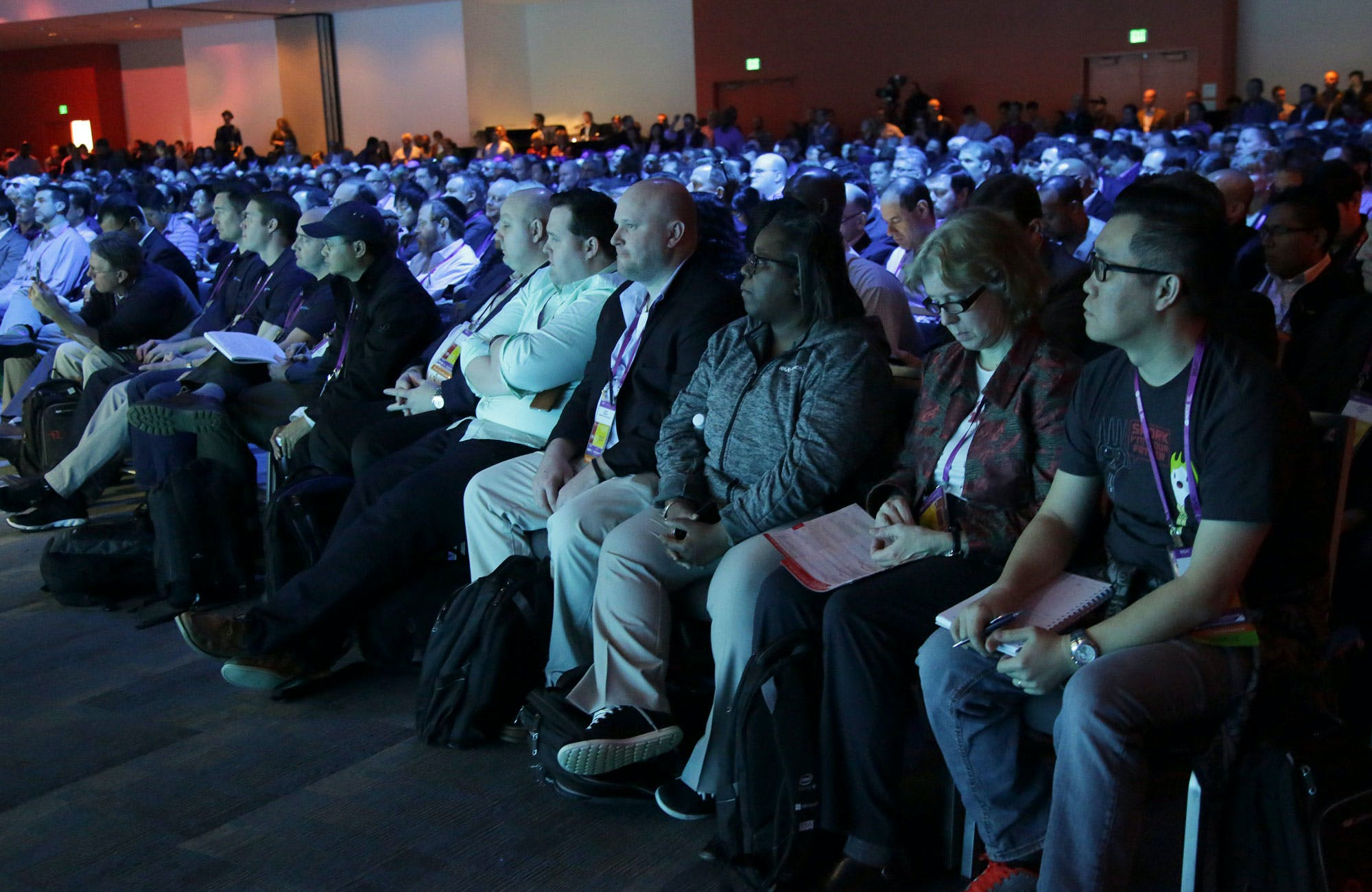 Audience members at the RSA Conference at San Francisco's Moscone Center, March 1, 2016. Security experts now worry that if Apple is forced to create software to bypass its password system, it will be a precursor to many more government requests. (Jim Wilson/The New York Times)