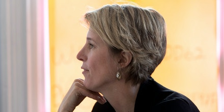 New York's 19th Congressional District Democratic candidate Zephyr Teachout visits volunteers at her campaign office on Tuesday, Nov. 8, 2016, in Hudson, N.Y. Teachout is running against Republican John Faso. (AP Photo/Mike Groll)