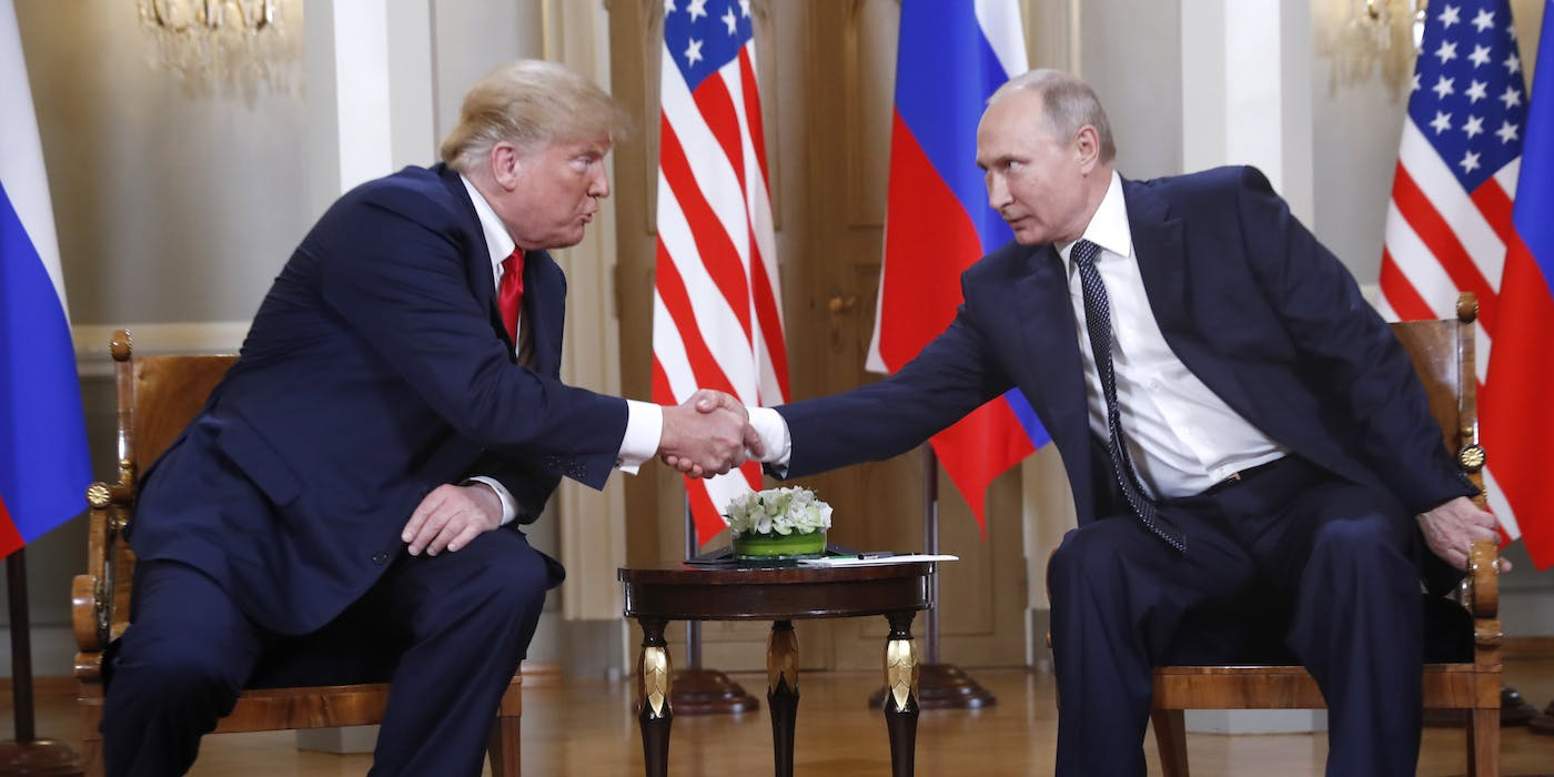 Trump and Putin Met in Helsinki's Hall of Mirrors. Here Are the Highlights.