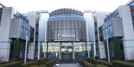 The headquarters of German health care company Fresenius is seen at the company's headquarter in Bad Homburg near Frankfurt am Main, western Germany, on February 25, 2015. AFP PHOTO / DANIEL ROLAND (Photo credit should read DANIEL ROLAND/AFP/Getty Images)