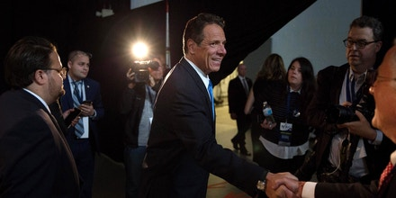 HEMPSTEAD, NY - MAY 23: Gov. Andrew Cuomo departs after speaking to the press during the New York Democratic convention at Hofstra University on May 23, 2018 in Hempstead, New York. Hillary Clinton attended the event to support Governor Andrew Cuomo's bid for a third term. (Photo by Kevin Hagen/Getty Images)