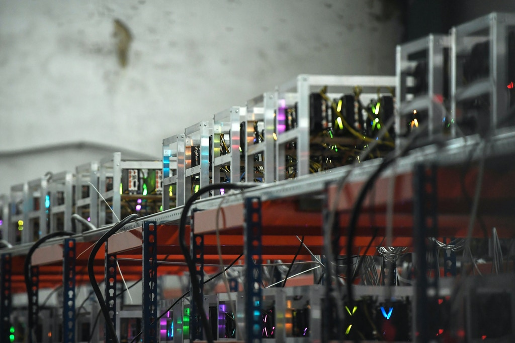 3283618 01/30/2018 Metal shelves for crypto-currency mining. Eugene Odinokov/Sputnik  via AP