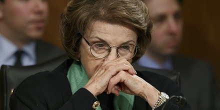 Senate Intelligence Committee Chair Sen. Dianne Feinstein, D-Calif., listening on Capitol Hill in Washington, during a Senate Transportation subcommittee hearing on March 13, 2014.