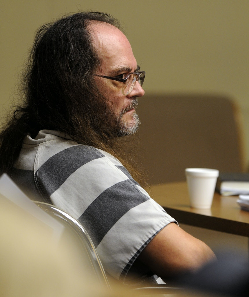 Billy Ray Irick, on death row for raping and killing a 7-year-old girl in 1985, appears in a Knox County criminal courtroom Monday, Aug. 16, 2010, in Knoxville, Tenn., arguing that he's too mentally ill to be executed by the state. (AP Photo/The Knoxville News Sentinel, Michael Patrick)