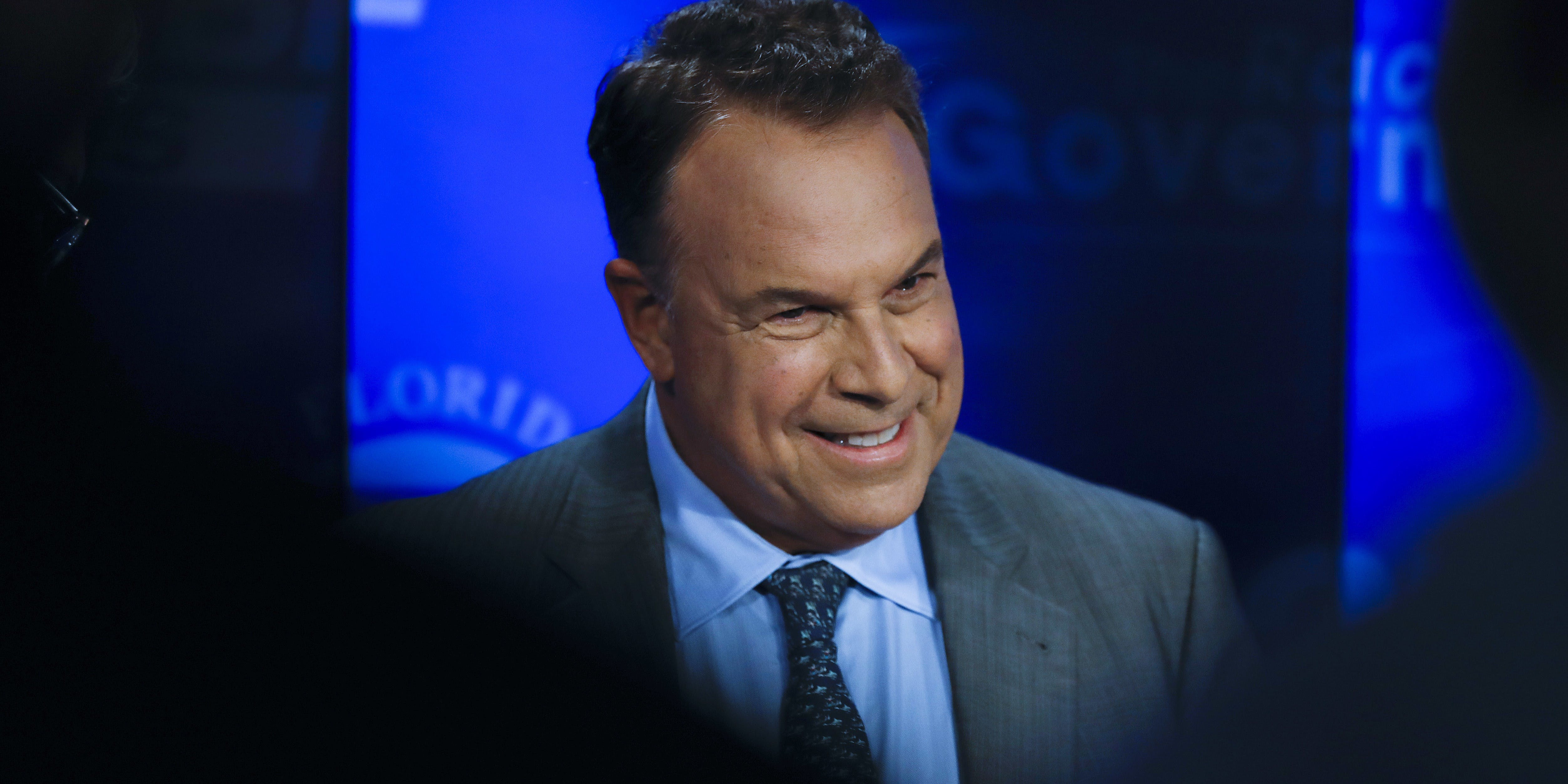 Democratic gubernatorial candidate Jeff Greene awaits the start of a debate ahead of the Democratic primary for governor, Thursday, Aug. 2, 2018, in Palm Beach Gardens, Fla. (AP Photo/Brynn Anderson)