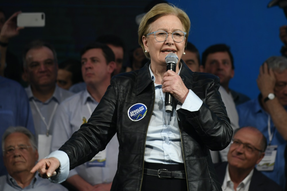 Ana Amelia on August 3, during a national convention of the PSDB where she elects Geraldo Alckmin as a candidate for the party for president of the republic and Ana Amelia as Vice. Photo: Mateus Bonomi / AGIF (via AP)