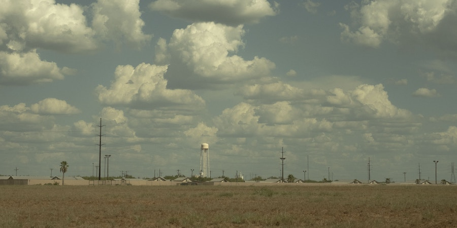 The South Texas Family Residential Center, privately owned by CoreCivic, formerly known as Corrections Corporation of America, in Dilley, Texas, on August 23, 2017. The site which was formerly used by oil field workers can hold up to 2,400 women and children. Operating costs are $296 per person, paid for by the federal government.