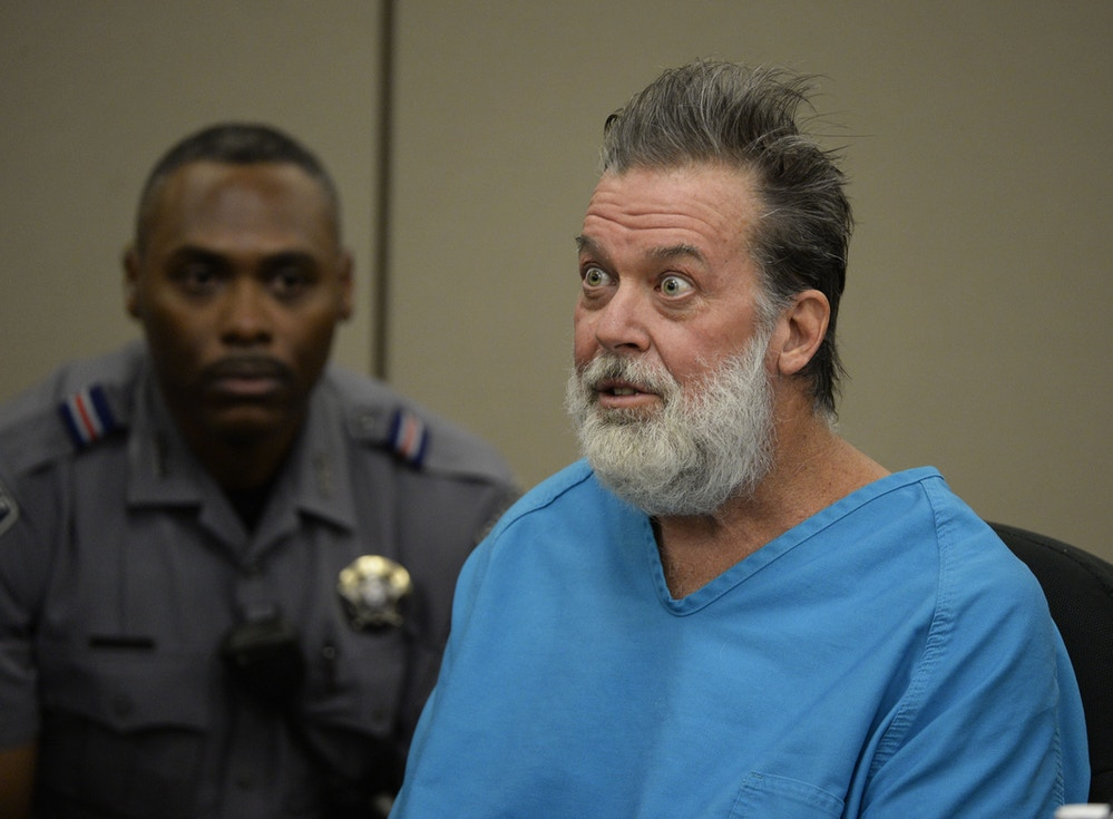 COLORADO SPRINGS, CO - DECEMBER 09: Robert Lewis Dear addresses Judge Gilbert Martinez during a court appearance December 09, 2015 in Colorado Springs, Colorado. El Paso County prosecutors filed formal charges against Lewis in the November 27 Planned Parenthood attack in which University of Colorado Colorado Springs police officer Garrett Swasey, Iraq war veteran Ke'Arre  Stewart and Jennifer Markovsky, mother of two were killed.  (Photo by Andy Cross-Pool/Getty Images)