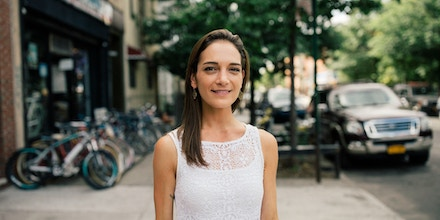 Julia Salazar in Bushwick, Brooklyn captured by José A. Alvarado Jr. in New York City, New York, 2018/07/18.