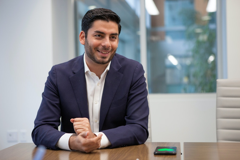 UNITED STATES - March 27: Ammar Campa-Najjar, Democratic candidate for California's 50th Congressional district, is interviewed by CQ Roll Call at their D.C. office, March 27, 2018. (Photo by Thomas McKinless/CQ Roll Call). (CQ Roll Call via AP Images)