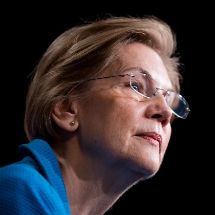 UNITED STATES - MARCH 6: Sen. Elizabeth Warren, D-Mass., holds a news conference in the Capitol on banking deregulation legislation on Tuesday, March 6, 2018. (Photo By Bill Clark/CQ Roll Call) (CQ Roll Call via AP Images)