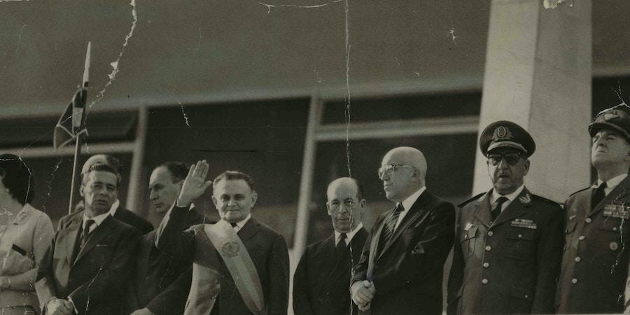 Posse do marechal Humberto de Alencar Castelo Branco na presidência da República de 1964 a 1967.