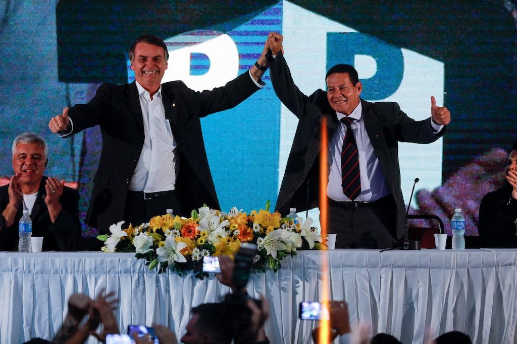 Ato que tornou general da reserva Hamilton Mourão como vice-candidato à presidência na chapa de Jair Bolsonaro (PSL), em dia 5 de agosto.