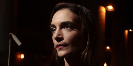 Julia Salazar waits to be interviewed after winning the Democratic primary in New York's 18th State Senate district race on Sept. 13, 2018, in New York, N.Y.