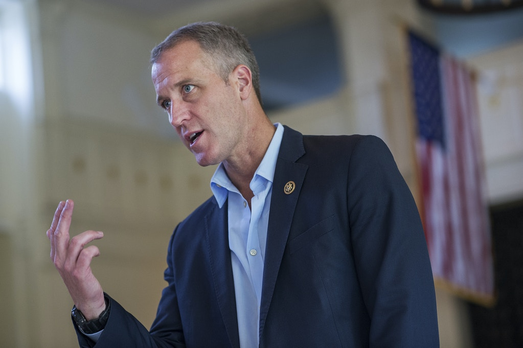 Rep. Sean Patrick Maloney, D-N.Y., talks with Service Academy nominees during a luncheon at the U.S. Military Academy on June 11, 2016 in West Point, N.Y.Photo: Tom Williams/CQ Roll Call/AP