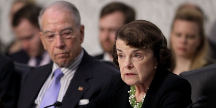 WASHINGTON, DC - SEPTEMBER 06:  Senate Judiciary Committee ranking member Dianne Feinstein (D-CA) (R) and Chairman Charles Grassley (R-IA) engage in a debate with fellow members of the committee during the third day of Supreme Court nominee Judge Brett Kavanaugh's confirmation hearing in the Hart Senate Office Building on Capitol Hill September 6, 2018 in Washington, DC. Kavanaugh was nominated by President Donald Trump to fill the vacancy on the court left by retiring Associate Justice Anthony Kennedy.  (Photo by Chip Somodevilla/Getty Images)