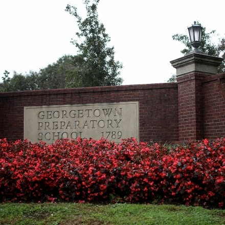 BETHESDA, MARYLAND - SEPTEMBER 18:  The entrance to the Georgetown Preparatory School is shown on September 18, 2018 in Bethesda, Maryland. Supreme court nominee Brett Kavanaugh attended the all-boys high school in the early 1980s. Kavanaugh has been accused of assault by Christine Blasey Ford, who was a student at the all-girls Holton Arms School, when the two were students.  (Photo by Win McNamee/Getty Images)