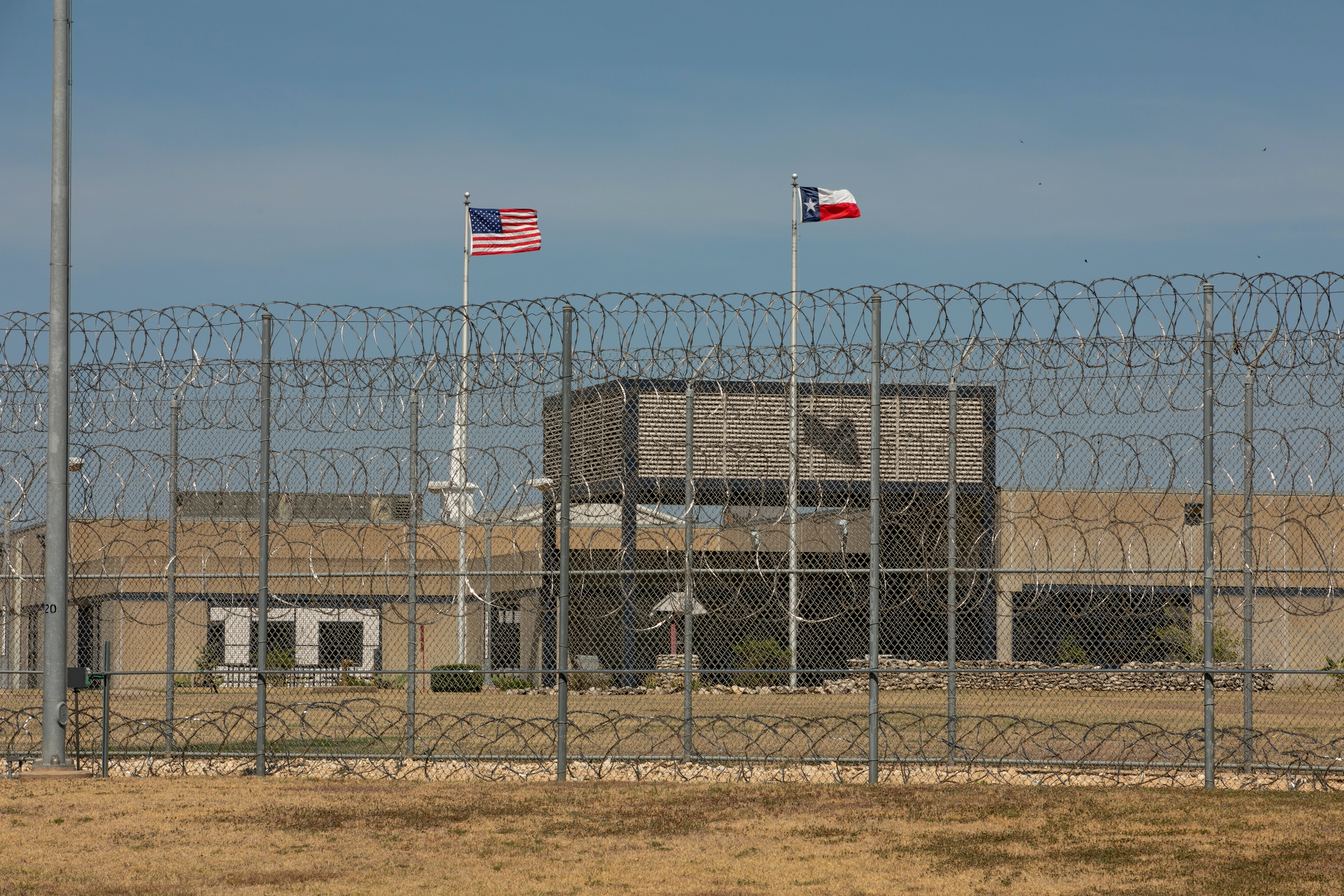 GATESVILLE, TEXAS - August 8, 2018: The Alfred D. Hughes Unit prison for men of the Texas Department of Criminal Justice located in Gatesville, Texas. Photo by Ilana Panich-Linsman for The Intercept