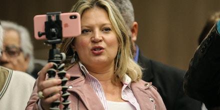 Joice Hasselmann (PSL), a mulher mais votada para o cargo de deputada federal.