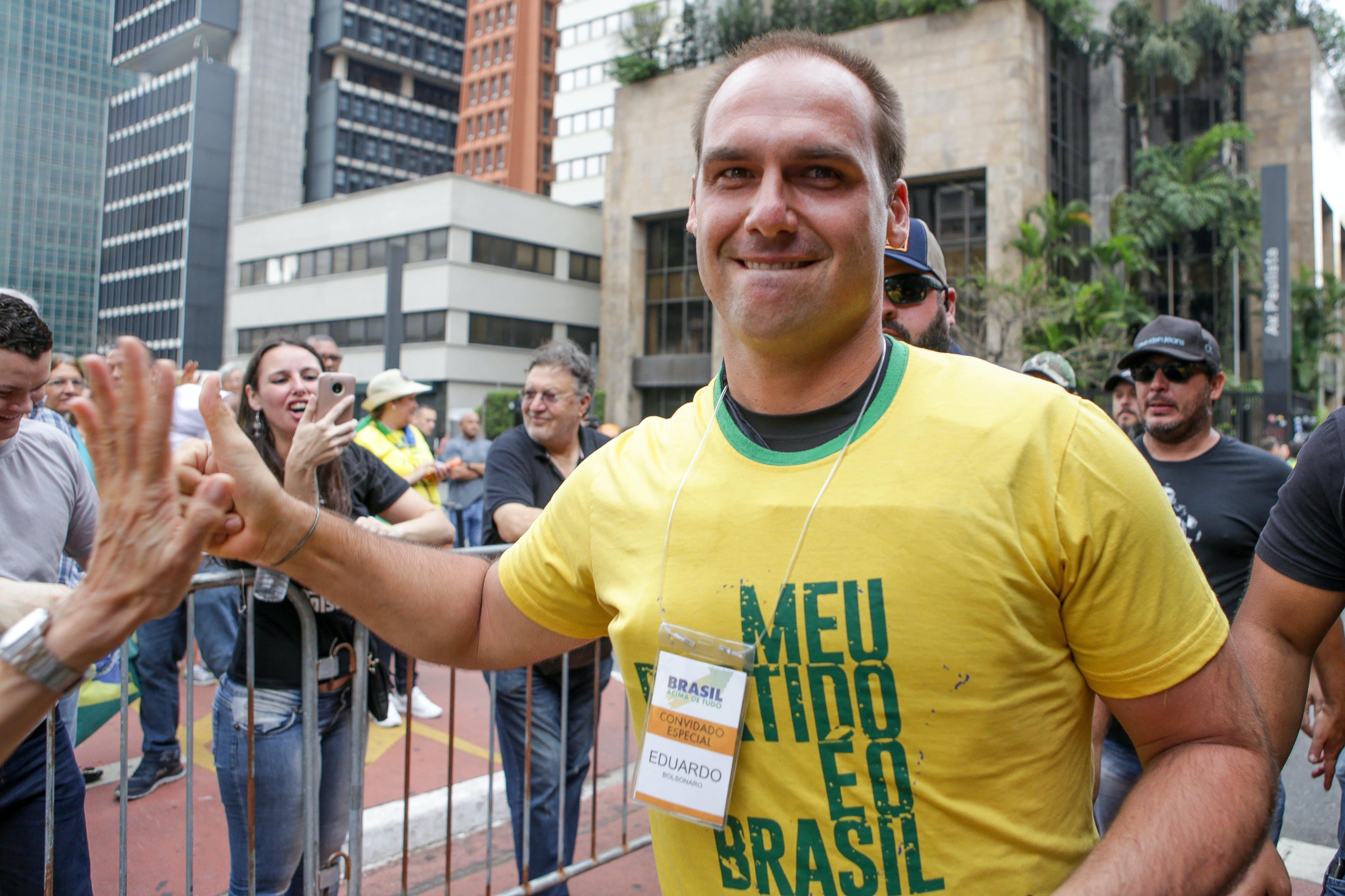 Eduardo Bolsonaro, filho do presidenciável Jair Bolsonaro.
