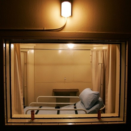 This is the execution chamber at Central prison in Raleigh, N.C., Wednesday, Nov. 30, 2005, where Kenneth Lee Boyd is scheduled to be executed Friday at 2 a.m. for the murder of his estranged wife and her father. Boyd will be the 1,000th execution since capital punishment resumed in 1977.  (AP Photo/Gerry Broome)