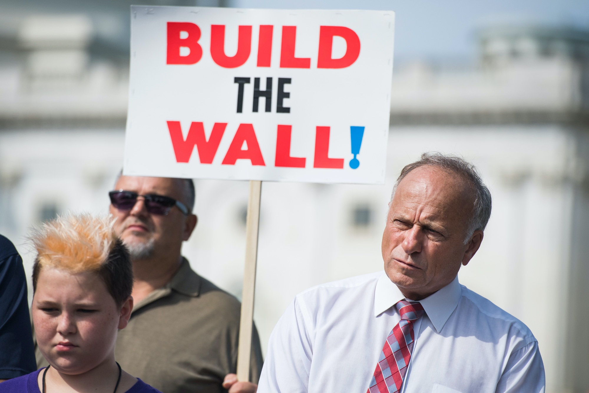 UNITED STATES - SEPTEMBER 07: Rep. Steve King, R-Iowa, attends a rally with Angel Families on the East Front of the Capitol, to highlight crimes committed by illegal immigrants in the U.S., on September 7, 2018. (Photo By Tom Williams/CQ Roll Call) (CQ Roll Call via AP Images)