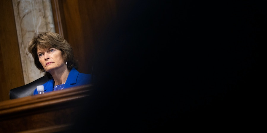 WASHINGTON, DC - SEPTEMBER 25: Sen. Lisa Murkowski (R-AK) chairs a hearing of the Senate Energy and Natural Resources Committee on Capitol Hill, September 25, 2018 in Washington, DC. Christine Blasey Ford, who has accused Supreme Court nominee Brett Kavanaugh of sexual assault, has agreed to testify before the Senate Judiciary Committee on Thursday. (Photo by Drew Angerer/Getty Images)