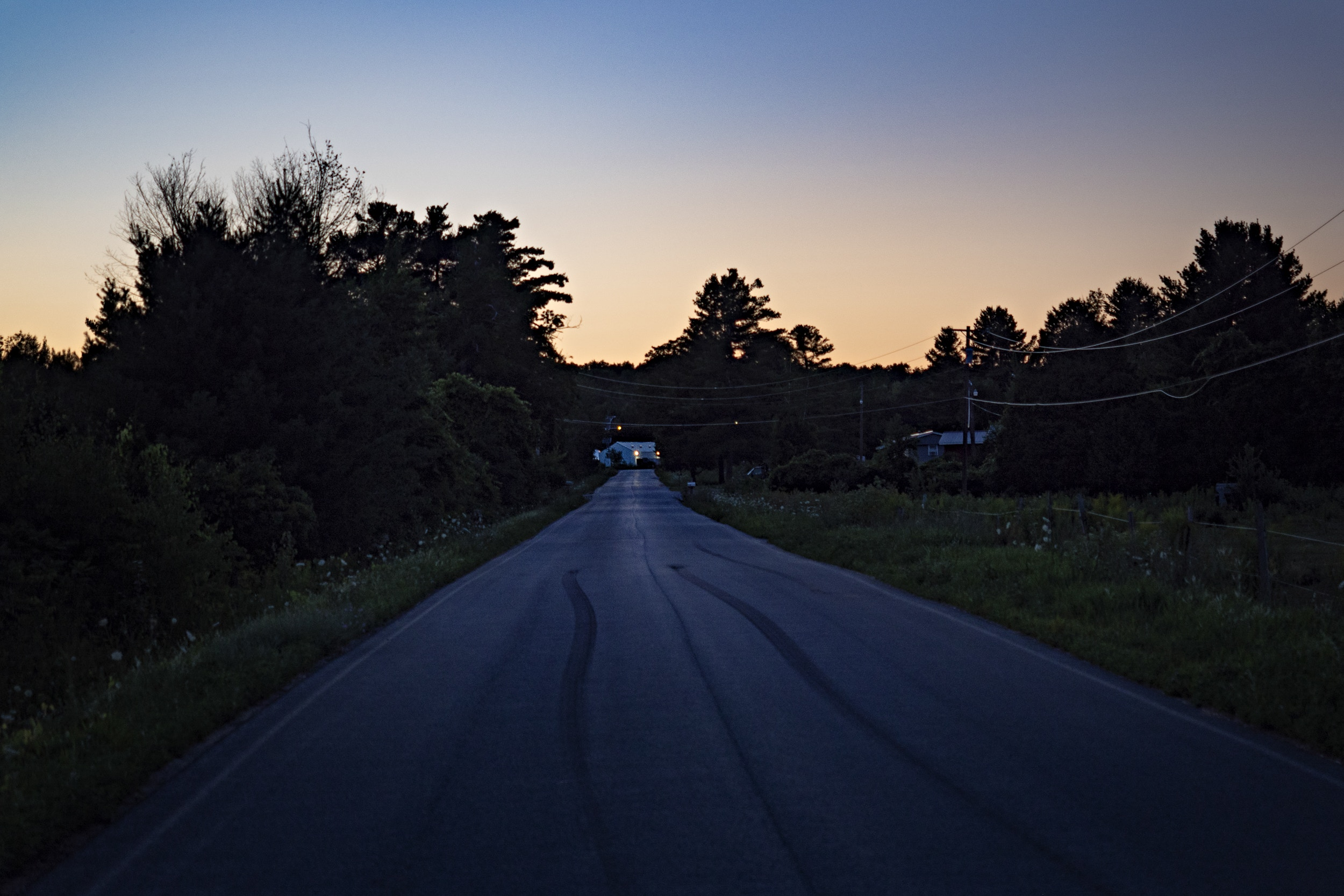 Champlain, New York - July 18, 2018. A view down Roxham Road towards the illegal border crossing into Canada in Champlain, New York, July 18, 2018. (Andre Malerba for The Washington Post via Getty Images)
