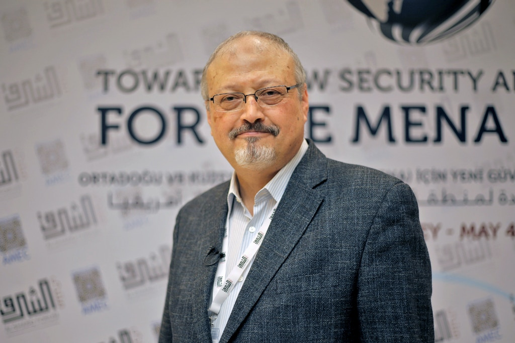 ISTANBUL, TURKEY - (ARCHIVE) : A file photo dated May 6, 2018 shows Prominent Saudi journalist Jamal Khashoggi in Istanbul, Turkey. Saudi journalist Jamal Khashoggi died after a brawl inside the Saudi consulate in Istanbul, Saudi Arabia announced Saturday. (Photo by Omar Shagaleh/Anadolu Agency/Getty Images)