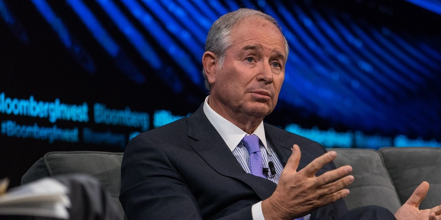 Stephen Schwarzman, co-founder and chief executive officer of Blackstone Group LP, speaks during the Bloomberg Invest Summit in New York, U.S., on Wednesday, June 7, 2017. This invitation-only event brings together the most influential and innovative figures in investing for an in-depth exploration of the challenges and opportunities posed by the constantly changing financial, economic and regulatory landscape. Photographer: Misha Friedman/Bloomberg via Getty Images