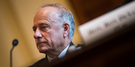 WASHINGTON, DC - SEPTEMBER 26: Rep. Steve King (R-IA) testifies during a House Veterans' Affairs Committee hearing, September 26, 2017 in Washington, DC. The hearing concerned a variety of legislation facing the committee, including increased access to medical care for women veterans  and the Puppies Assisting Wounded Servicemembers (PAWS) Act of 2017. (Photo by Drew Angerer/Getty Images)