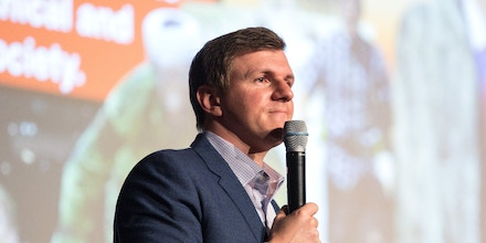 DALLAS, TX - NOVEMBER 29: James OKeefe, founder of Project Veritas, takes questions from the audience at a gathering hosted by the Young Americans for Freedom at Southern Methodist University on Wednesday, November 29, 2017. (Photo by Laura Buckman for The Washington Post via Getty Images)