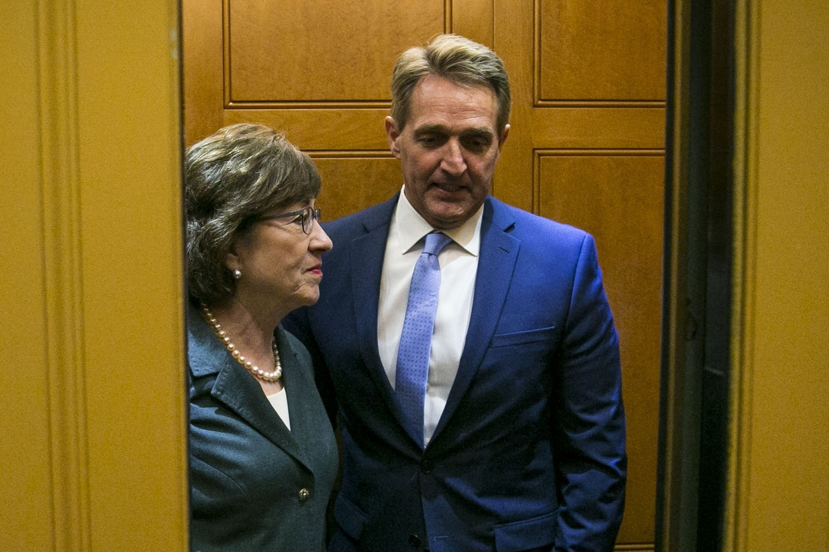 Sens. Susan Collins and Jeff Flake Are Frauds, Plain and Simple. Their Kavanaugh Votes Show It.