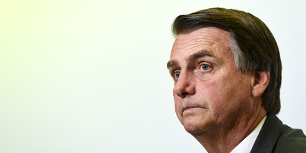Jair Bolsonaro, presidential candidate for the Social Liberal Party, attends an interview for Correio Brazilianse newspaper in Brasilia on June 6, 2018. - Brazil holds general elections in October. (Photo by EVARISTO SA / AFP)        (Photo credit should read EVARISTO SA/AFP/Getty Images)